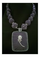 Purple Lava Necklace by BlueBluebell