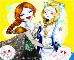 Midna and Elsa by Christy58ying
