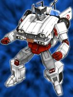 Ratchet as Ecto-1 by botmaster2005