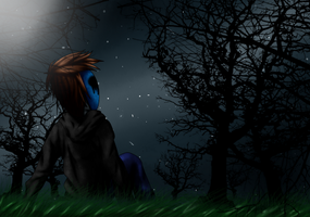 A day off - Eyeless Jack by Acrytexy