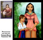 Pocahontas and her Son by yashodoa
