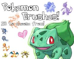 Pokemon Brushes by Jozabee