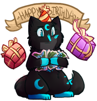 Happy Birthday Fire! -Gift- by Spottedfire-cat
