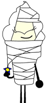 Ice Cream As A Mummy Vector by thedrksiren