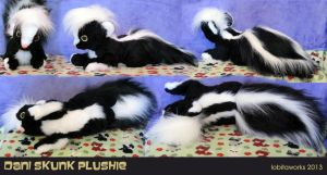 Dani Skunk Plushie by GrowlyLobita