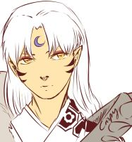 Sesshomaru by CrispySketch