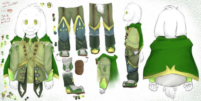 NatureTale Asriel! by Ferraku