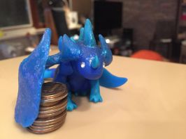 Little night dragon miniature by Mudoxy