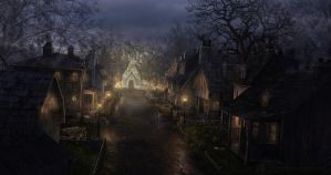 Nightg Village by Philang