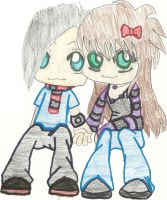 Another Chibi couple by 17tliles