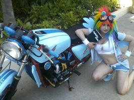 Rainbow Dash and her bike by SuperMouseChan