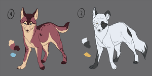 Canine (Point) Adoptables [closed] by Singarl