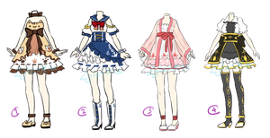 Adoptable: Outfits III [CLOSED] by ZylenXia