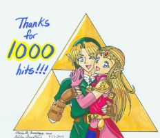 Thanks for 1000 HITS by Ryoko-and-Yami