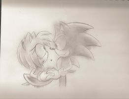 Sonic and Amy Rose by Blaze-5