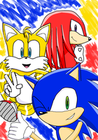 Team Sonic heroes by KnucklesBlazeFan