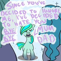 The sad death of the Ices' and the Lady pony by cleverlittleunicorn