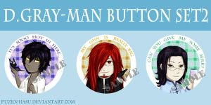 D.Gray-man button set 2 by fuzen-hasu