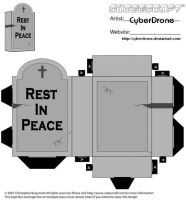 Cubee - Gravestone by CyberDrone