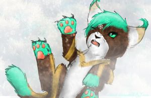 *Toffee's First Snow* by PurryProductions-Inc