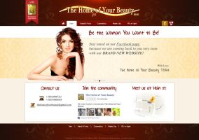 Home of your beauty webdesign concept by naranch