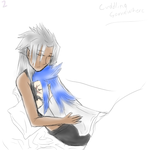 30 Day OTP Challenge:Day2-Cuddling Somewhere-Color by InsaneNekoCutie