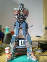 OPTIMUS PRIME AOE PAPERCRAFT LEGS ADDED by nandablank