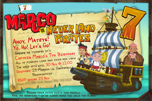 Jake and the Never Land Pirates invite by Guss7777