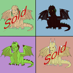 Plains Dragon Adoptables - Batch 01 by Death-Tendency