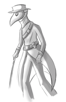 Plague doctor sketch by pIagued