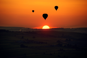 Sunset from Baslow Edge, Derbyshire by Lumpling