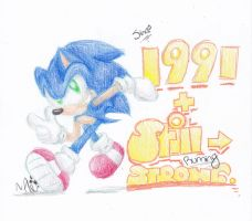 Sonic's 21st Anniversary - Happy Birthday Sonic~ by SilverSonic44