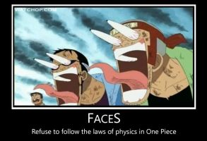 One Piece Faces Demotivational by tie-dye-flag