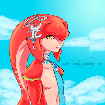 Breath of the Wild - Mipha by SpottedAlienMonster