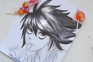 L - Death Note by Kipichuu