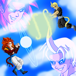 Trunks Jr and Gogeta's Match by Nazaru