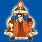 Timelord Companions - Shirt Design by sugarpoultry
