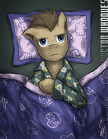 Dr whooves in bed_insomnia by saturnspace