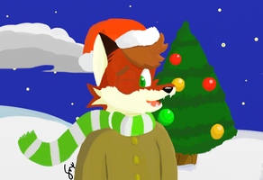 The Christmas Fox by Daily-Needs