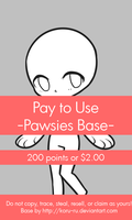 Pay To Use Base {Pawsies} 200pts or $2 by Koru-ru