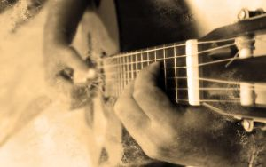 Guitar, Old Paper Effect by DiFoGA