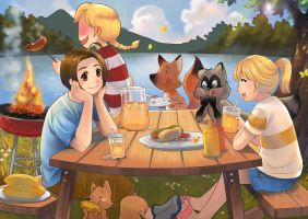 Summer Picnic by Archie-The-RedCat