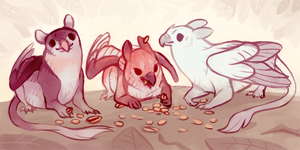 Small gryphons by fancypigeon