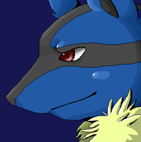 Lucario close up by Endless-Void
