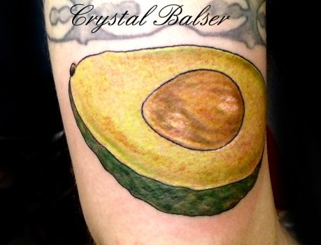 Avocado Tattoo by IAteAllMyPaste