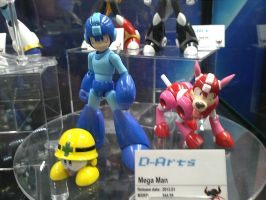 Mega Man, Rush and Met D-Arts at NYCC 2012 by DestinyDecade