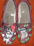 Batman Custom Shoes, Harley and Joker by Acrylicolt