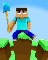 Minecraft Steve by IshmanAllenLitchmore
