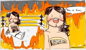 This is Fine Parody: Seth Rollins by Shinkumancer