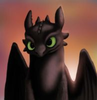 Toothless Fanart by Golphee